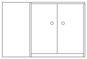 圆形柜台手绘立面图